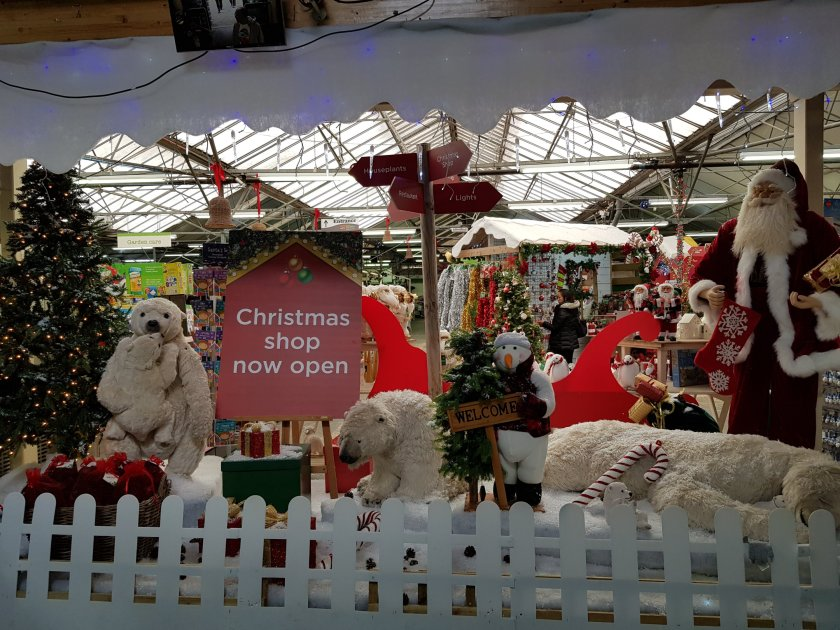 A Christmas display at Crews Hill, Enfield