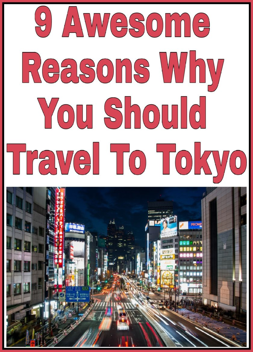 9 Awesome Reasons Why You Should Travel To Tokyo title with an image of Tokyo