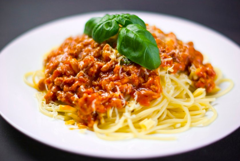 Spaghetti bolognaise. Dinners can be prepared from frozen leftovers