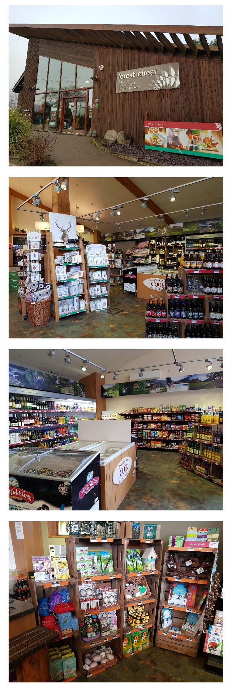 Forest Retreat photo strip showing selection in store.