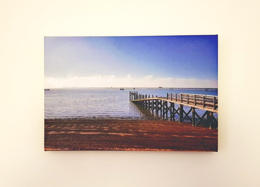 CanvasChamp canvas wall hanging art. Picture of Southend beach, Essex. Photography of sea by Living Life Our Way.