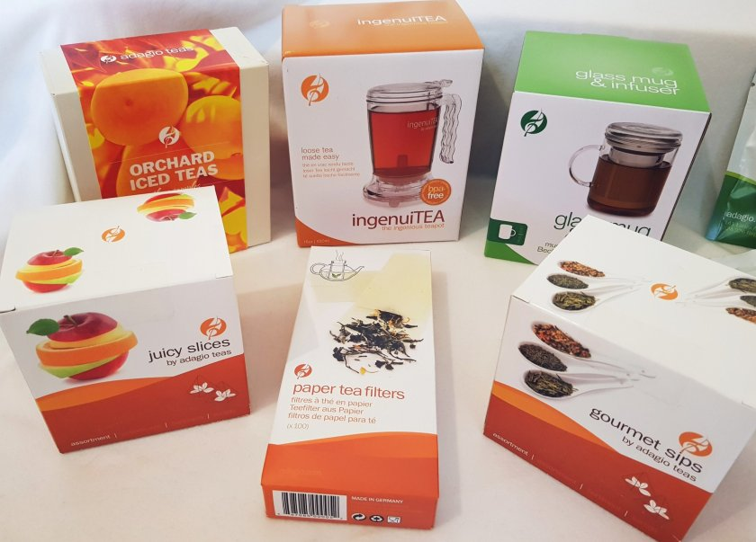 A selection of Adagio Teas and accessories