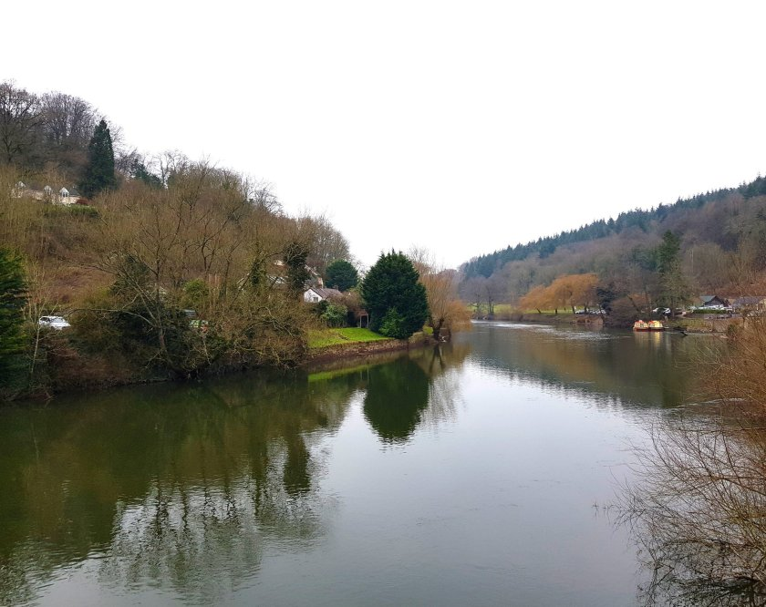 Stunning scenic view of river Wye
