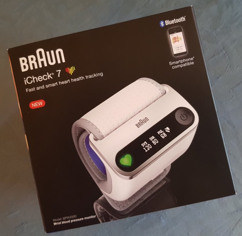 Braun iCheck 7 Wrist Blood Pressure Monitor box