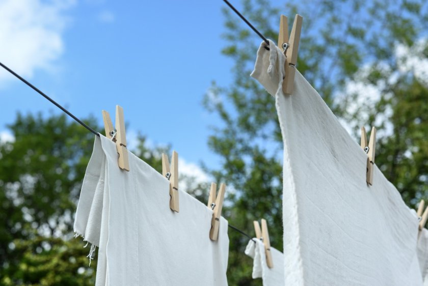 Washing hanging out to dry