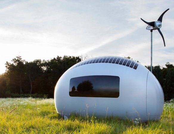 Wind turbine tiny house