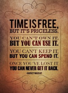 Time is a precious commodity