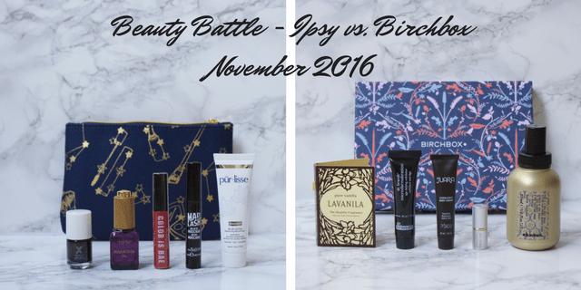 Ipsy vs. Birchbox November 2016