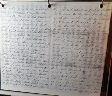 Backside copy of the actual letter.