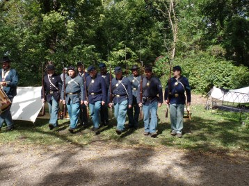 The First Minnesota demonstrated their marching.