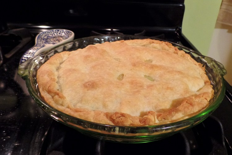 The finished pie - probably could have afforded another couple of minutes in the oven.