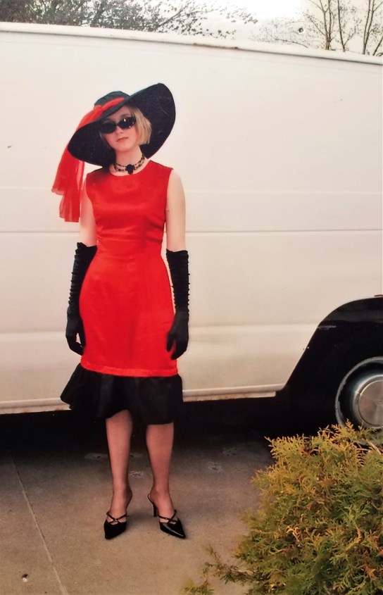 My senior prom outfit, complete with silk stockings. I was going for an Audrey Hepburn thing - can you tell??