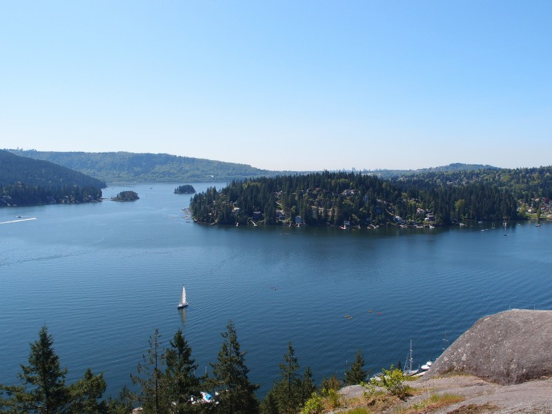 Beautiful view from Quarry Rock in Vancouver