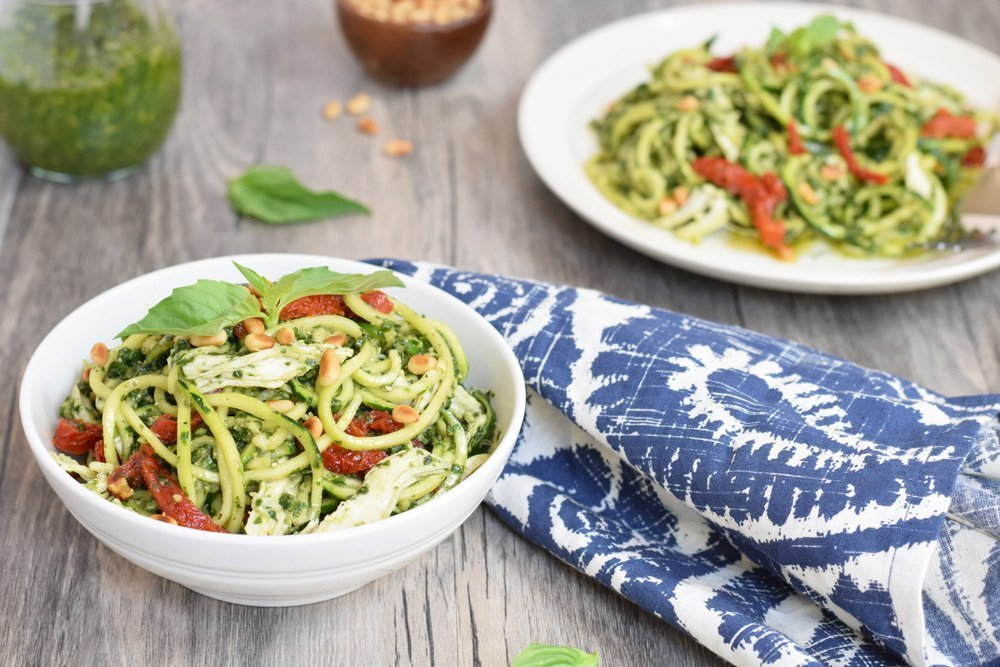 Pesto Chicken Zoodles