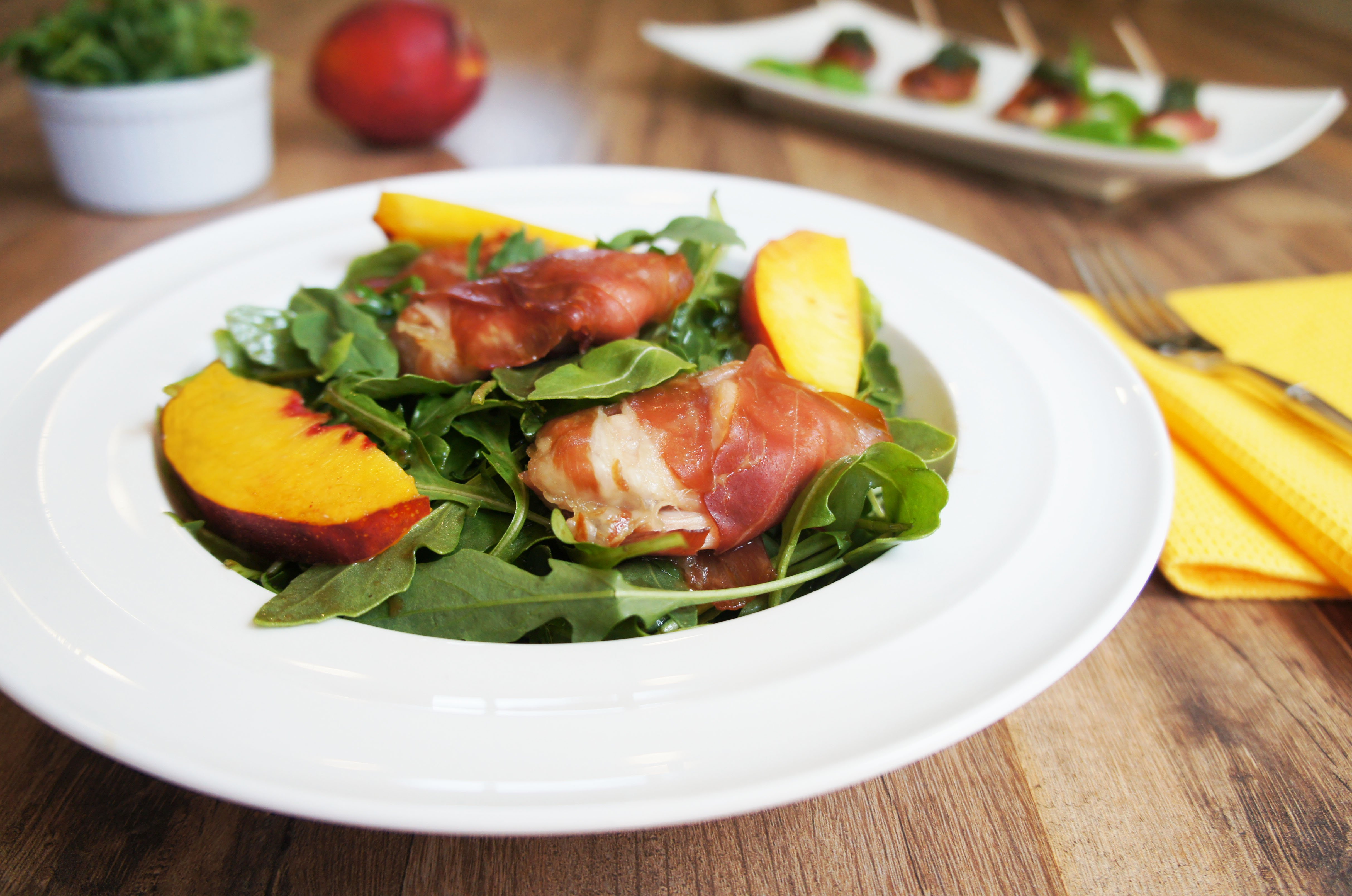 Prosciutto Wrapped Chicken Salad With Pesto Vinaigrette