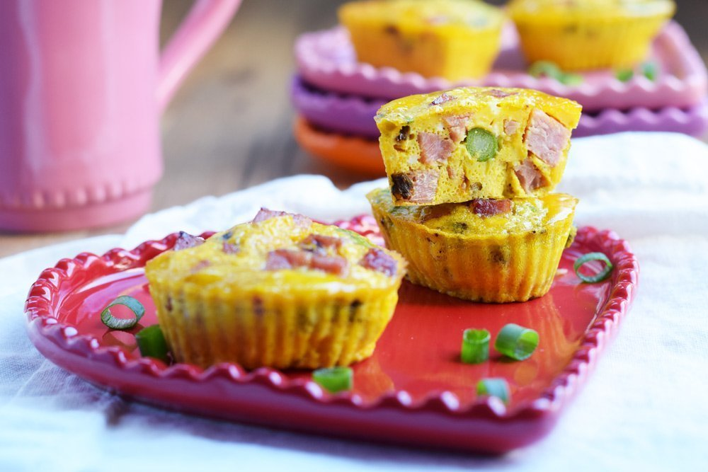 ham & asparagus egg muffins