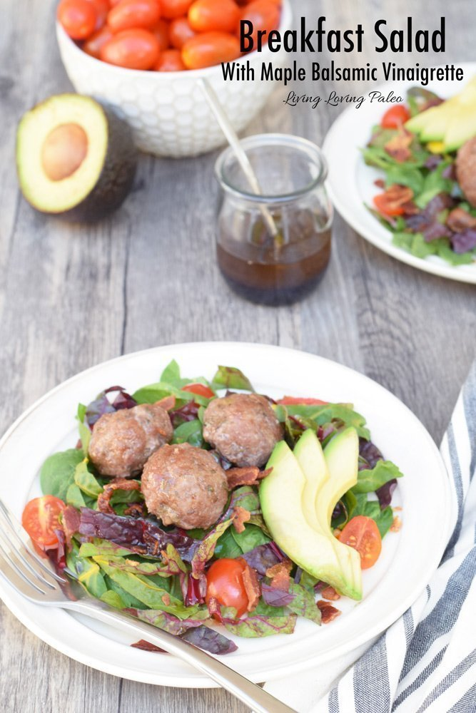 Breakfast Salad With Maple Balsamic Vinaigrette