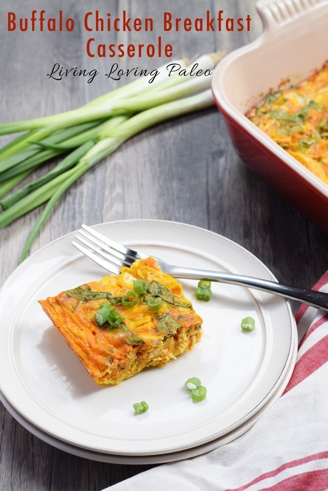 Buffalo Chicken Breakfast Casserole