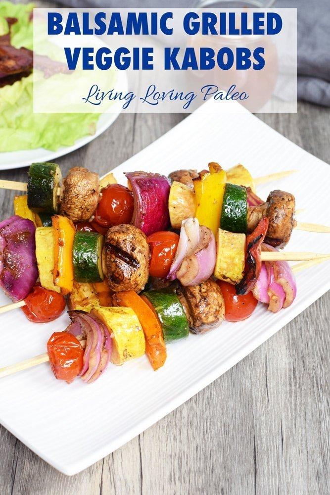 Balsamic Grilled Veggie Kabobs