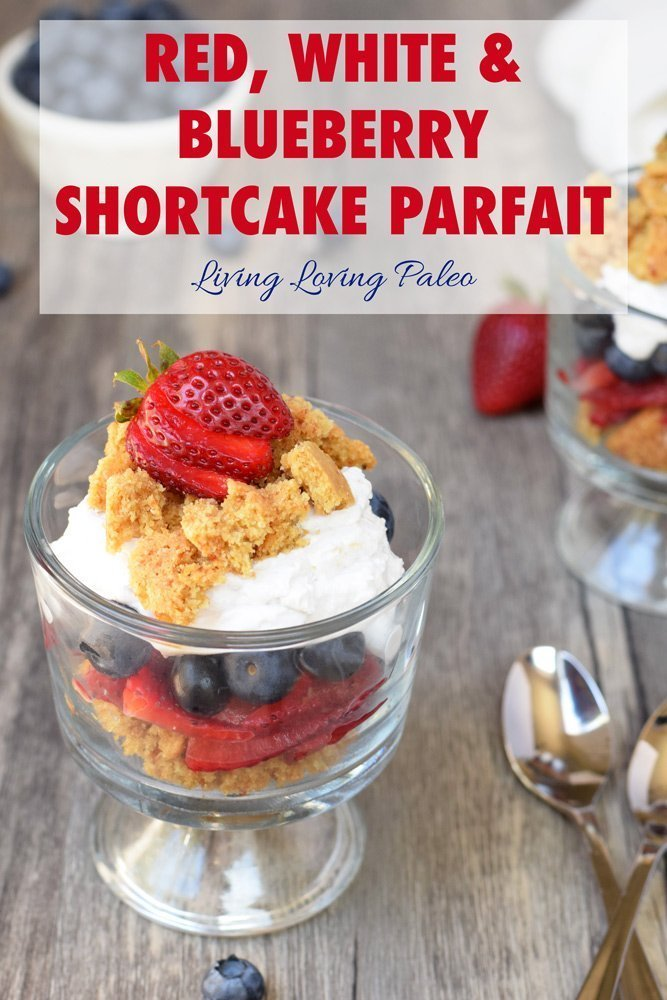 Red, White & Blueberry Shortcake Parfaits