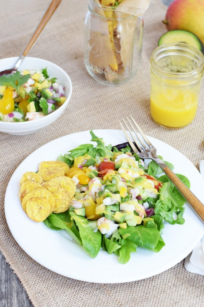 Ceviche Salad With Mango Vinaigrette