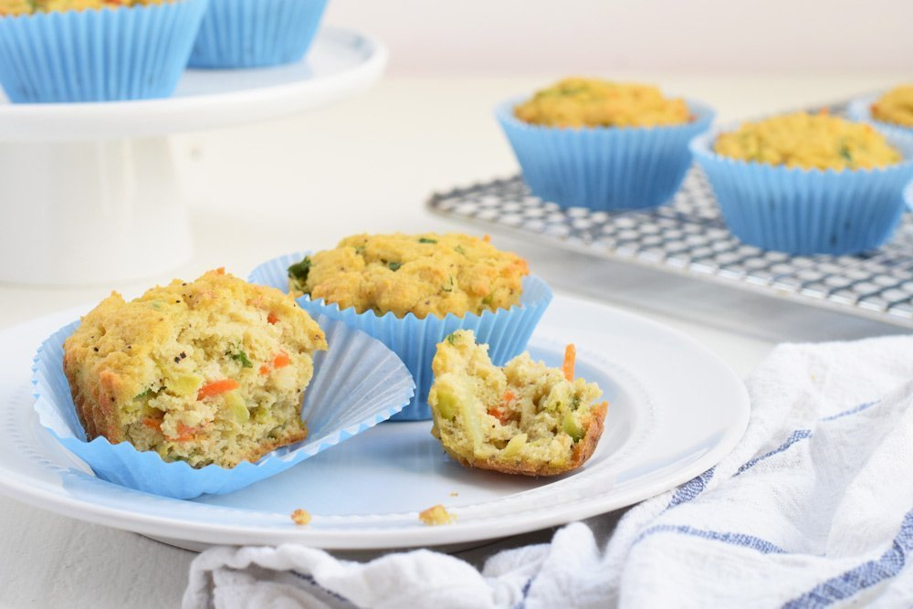Powered Up Veggie Muffins