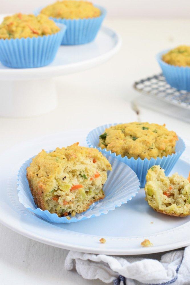Powered Up Veggie Muffins