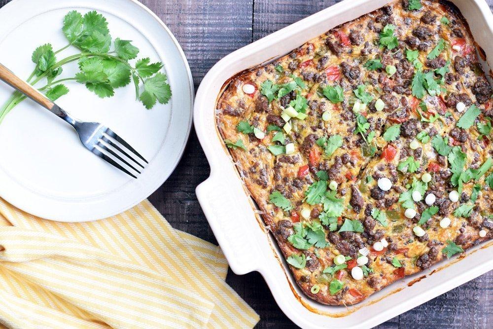 Loaded Taco Breakfast Casserole
