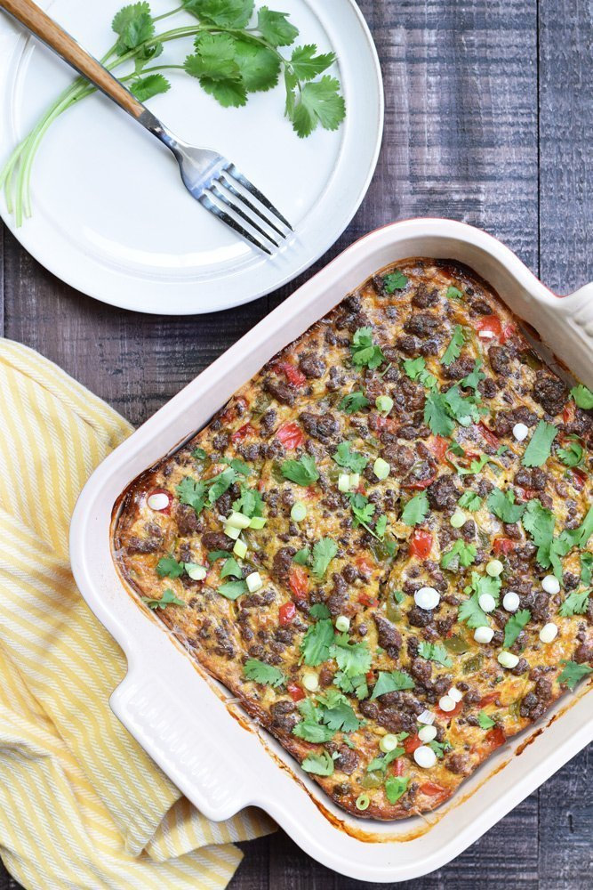 Loaded Taco Breakfast Casserole