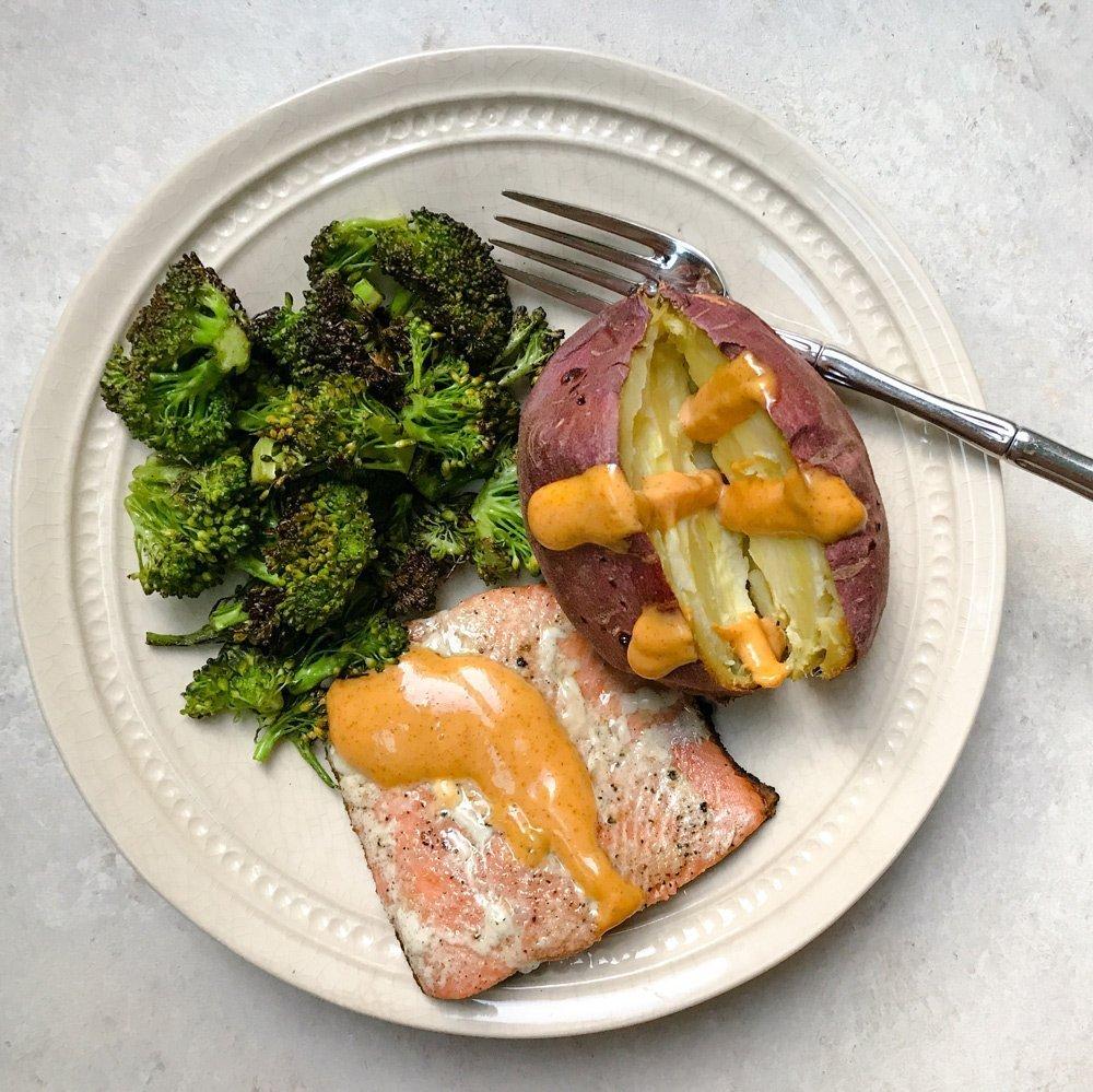 10-Minute Salmon Dinner