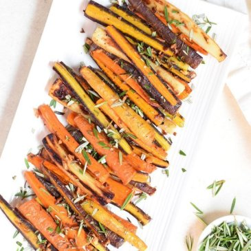 Rosemary Garlic Roasted Carrots