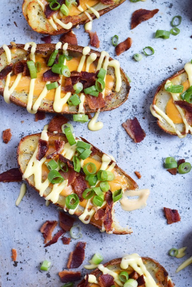 Dairy-free Loaded Baked Potato Skins