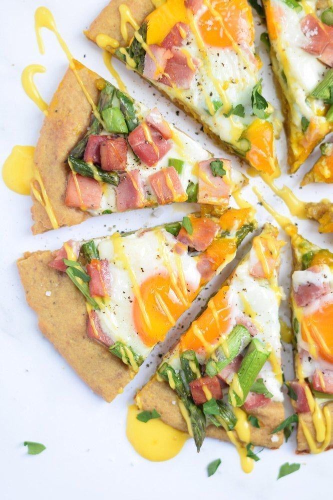 Breakfast Benedict Pizza
