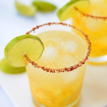 Pineapple Mango Margaritas With Chili Lime Salt