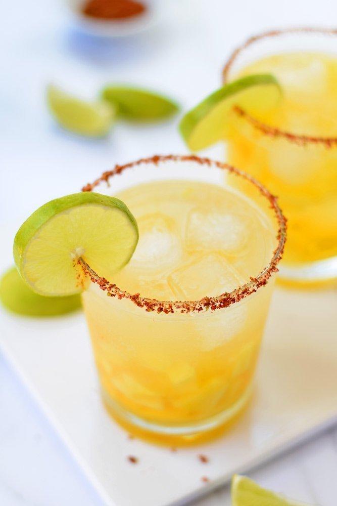 Pineapple Mango Margaritas With Chili Lime Salt