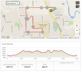 Group run Route + solo run to/from