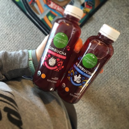 Sunday morning brews...the hubs brought me some kombucha to try!