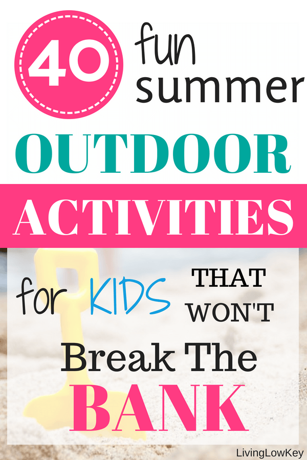 Don't go crazy at home this summer with these fun summer activities for kids! If you are like me, I'm always on the lookout for cheap things to do with the kids outdoors. You'll love these ideas that won't break the bank.