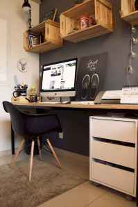 30 amazing rustic home office ideas (20)