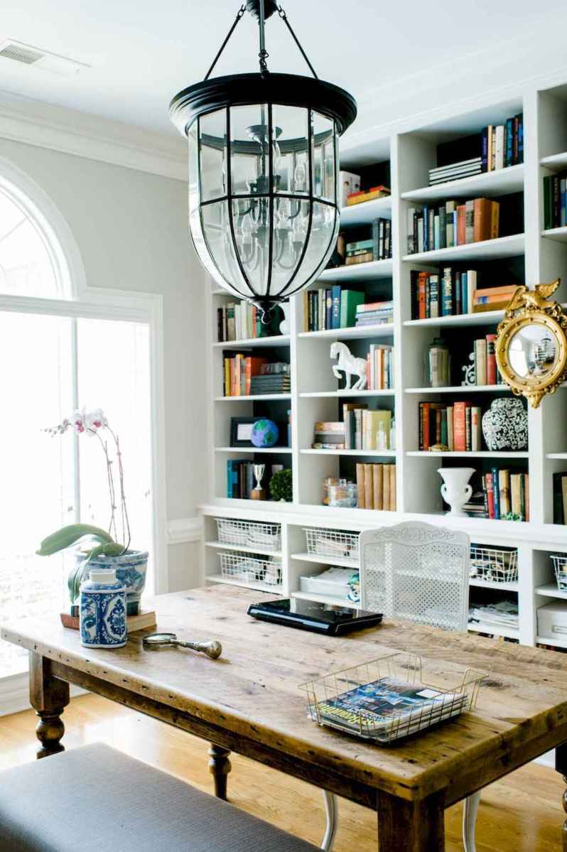 30 amazing rustic home office ideas (24)