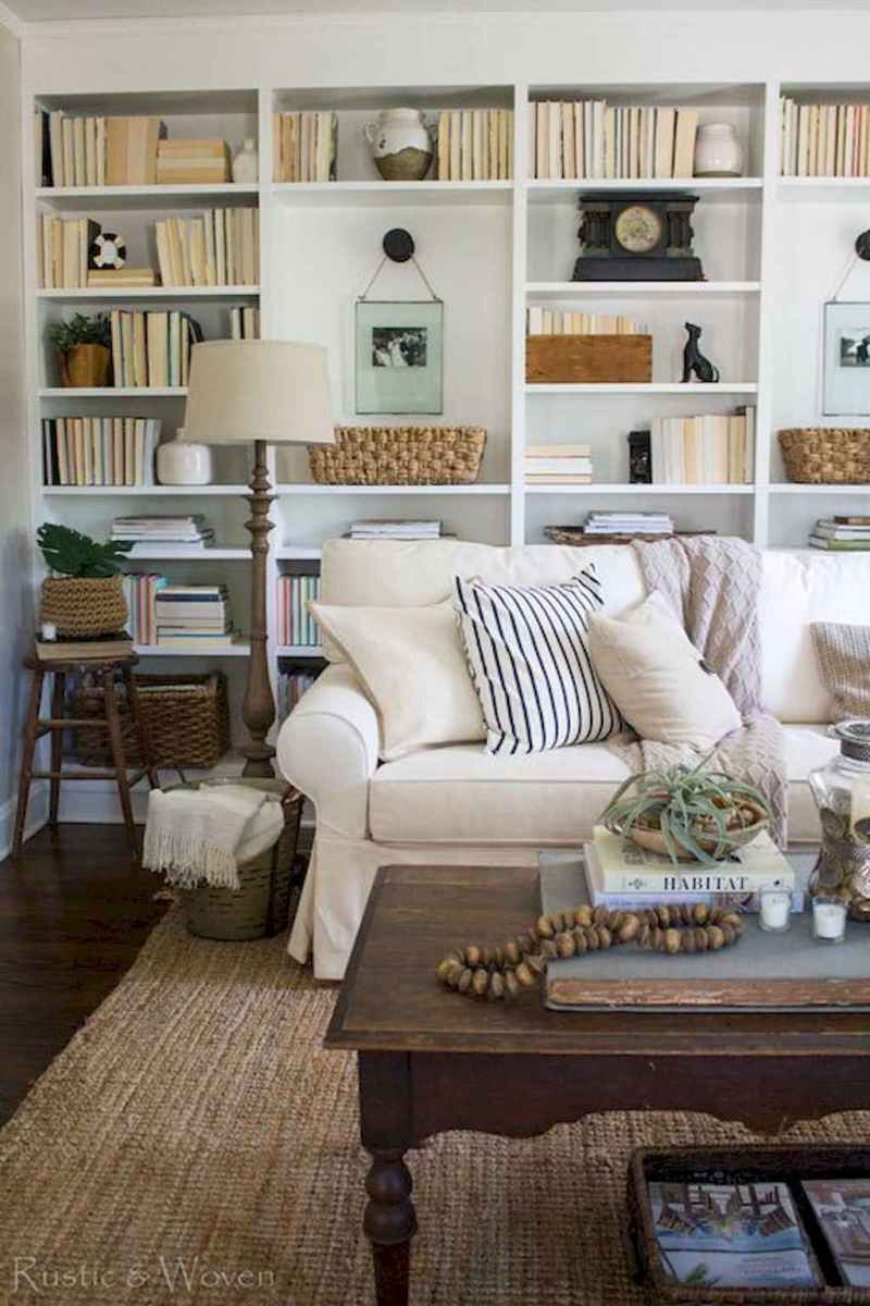 40+ stunning home libraries with rustic design (19)