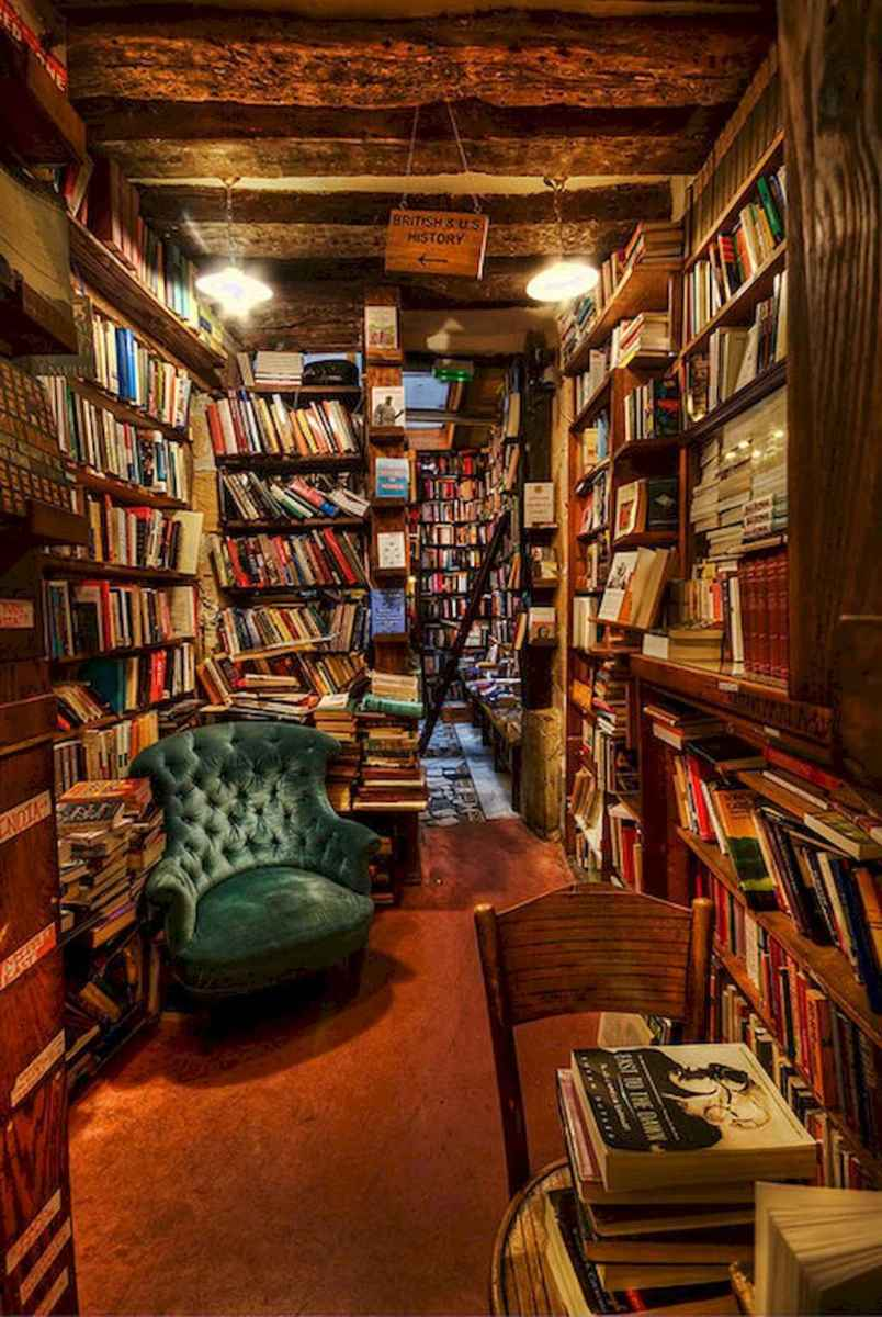 40+ stunning home libraries with rustic design (34)