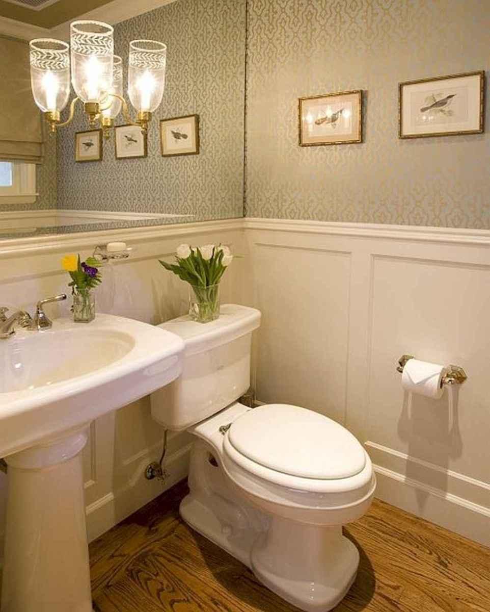 60+ beautiful vintage powder room ideas (11)