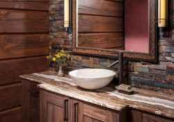 60 cool rustic powder room design ideas (35)