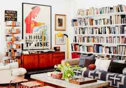 60 creative eclectic ideas for library room (59)