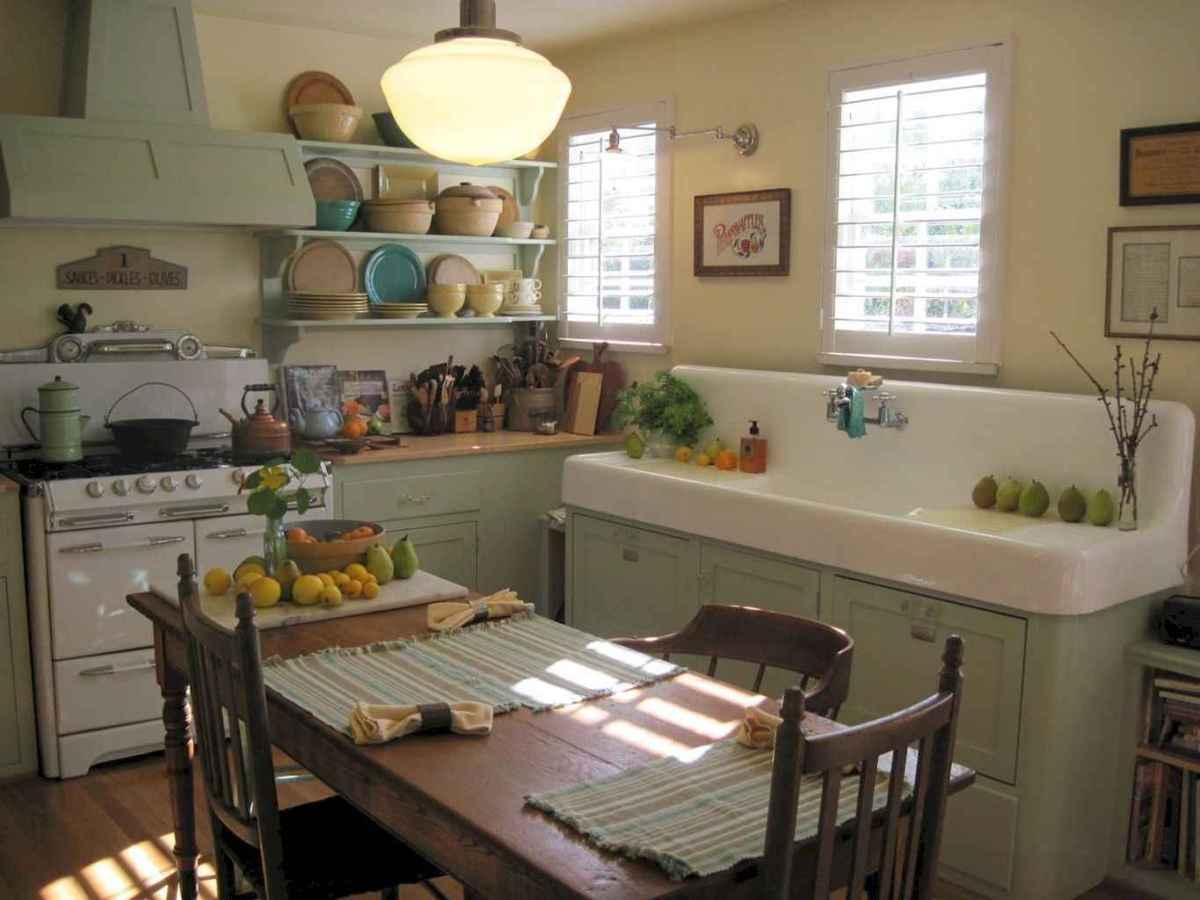 60 great vintage design ideas for your kitchen (30)