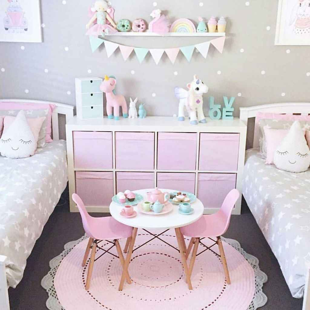 Beautiful decor bedroom for girls (18)