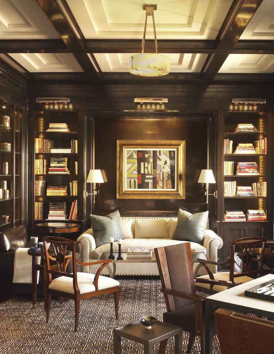 Cool home library design ideas (12)