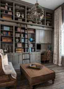 Cool home library design ideas (23)