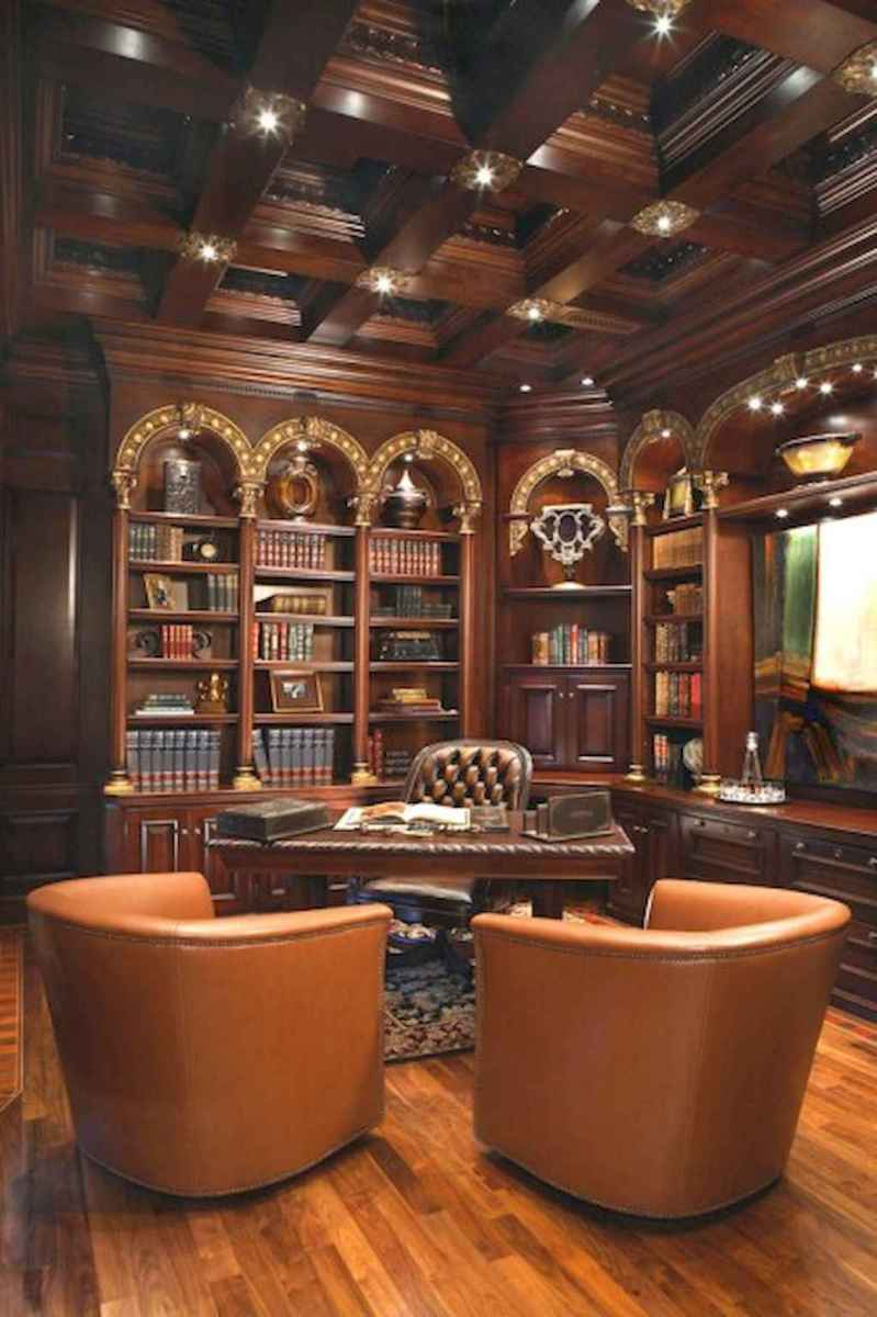 Cool home library design ideas (28)